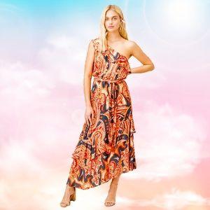 Lovestitch Sabina One Shoulder Maxi Dress
